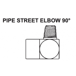 """PAULIN / DOMINION FITTINGS DS1015-A, STEEL PIPE STREET ELBOW 90 - 2102-2-2 1/8"""" X 1/8"""" DS1015-A"""