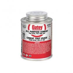 OATEY 31576, CEMENT ALL PURPOSE 236ML - ABS/PVC/CPVC 31576