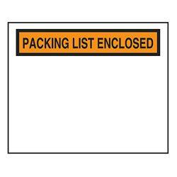 PLASTIC PACKING SLIP POUCH - 4-1/2X5-1/2 CADM-51-B 1000/PKG