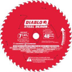"FREUD DIABLO D0748CFX, BLADE-CIRC SAW 7-1/4 "" - 48 TPI CARBIDE TIP CERMET D0748CFX"