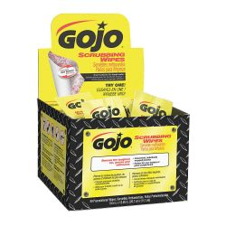 GOJO 6380-04, HAND CLEANER-SCRUBBING WIPES - 80 WIPES/BOX 6380-04