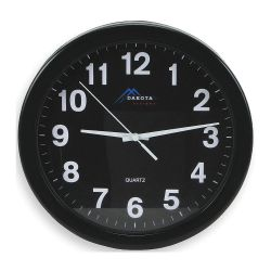 WFS APPROVED 2CHZ2, PLASTIC WALL CLOCK - 10IN BATTERY 12HR 2CHZ2