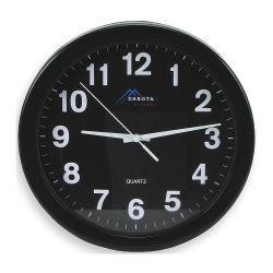 PLASTIC WALL CLOCK - 10IN BATTERY 12HR