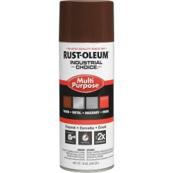 RUST-OLEUM 1674830, PAINT-IC ENAMEL FASTDRY 12 OZ - AEROSOL GLOSS LEATHER BROWN 1674830