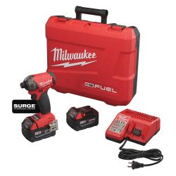 "MILWAUKEE 2760-22, IMPACT WRENCH KIT 1/4"" HEX - M18 FUEL SURGE 2760-22"