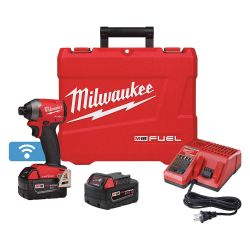 """MILWAUKEE 2857-22, IMPACT DRIVER XC KIT M18 FUEL - 1/4"""" HEX W/ONE-KEY EXTENDED 2857-22"""