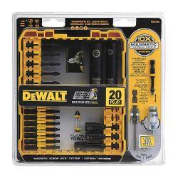 DEWALT DWA2T20C, SCREWDRIVING BIT SET 20 PC - IMPACT READY FLEXTORQ DWA2T20C