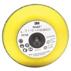 "3M HOOKIT AB25061, PAD-HOOKIT DISC 3"" X 1/2"" - 5/16-24 EXT AB25061"