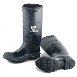 BOOT-SAFETY RUBBER SIZE 12 - CSA GREEN PATCH STEEL TOE/PLT