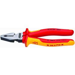 """KNIPEX 02 08 200 US, PLIERS-COMBINATION INSULATED - 8"""" HIGH LEVERAGE 02 08 200 US"""