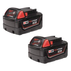 MILWAUKEE 48-11-1822, BATTERY-REDLITHIUM M18 - 3.0AH HIGH CAPACITY 2/PK - 48-11-1822