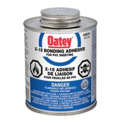OATEY 48034, SOLVENT FOR PAN LINER X-15PVC - 473ML 48034