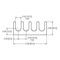 DOUGLAS STAMPING DSCH039M050, SHIMS-SLOT 0.5MM - 4 SLOT - DSCH039M050