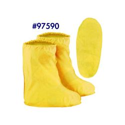 DUNLOP FOOTWEAR (ONGUARD) BATA 97590LGE, RUBBER OVERBOOT - YELLOW LATEX LARGE 97590LGE