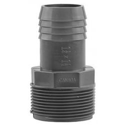 BOSHART INDUSTRIES PVCRA-1512, MALE ADAPTER-REDUCING PVC - 1-1/2 MPT X 1-1/4 INS - PVCRA-1512