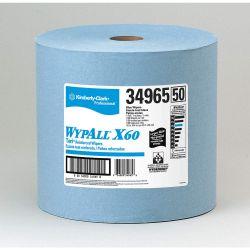 "KIMBERLY CLARK WYPALL 34965, X60 WYPALL WIPER BLUE - 12.5"" X 13.4"" X 1100/ROLL 34965"