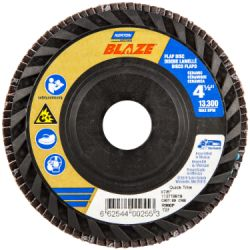 SAINT-GOBAIN NORTON 00255, DISC-FLAP 4-1/2 X 7/8 - 80G BLAZE QUICK TRIM T27 00255