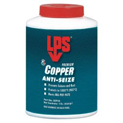 ITW PRO BRANDS LPS C02910, LPS PREMIUM COPPER ANTI-SEIZE - 454 GR BRUSH TOP C02910