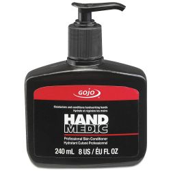 GOJO 8145-06, CONDITIONER-HAND MEDIC 8 OZ - C/W PUMP 8145-06