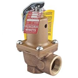 "WATTS WATER TECHNOLOGIES 0274431, VALVE-SAFETY RELIEF 174-A - 3/4"" 30 PSI - 0274431"