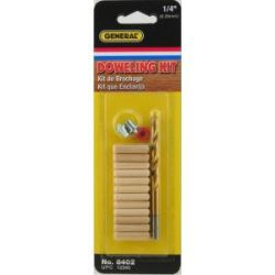 "GENERAL TOOLS 841014, 1/4"" DOWEL ACCESSORY KIT 841014"