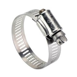 IDEAL CLAMP PRODUCTS HAS20-10, GEAR CLAMP-(ALL STAINLESS) #20 - 3/4 TO 1- 3/4 HF-20-SS HAS20-10