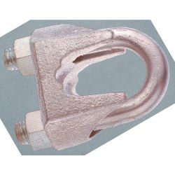 VANGUARD 2901-0008, CABLE CLIP-MALLEABLE 1/8 - *SILVER U-BOLT & NUTS* 2901-0008