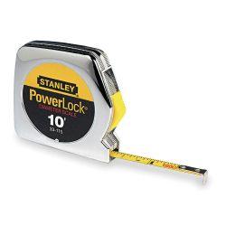 """STANLEY 33-115, TAPE MEASURE - SAE DIAMETER - 10' X 1/4"""" BLADE WIDTH STANLEY 33-115"""