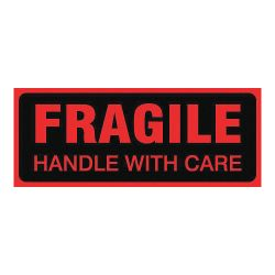 """ACCUFORM SIGNS MPC051PS5, FRAGILE HANDLE WITH CARE - 2"""" X 5"""" LABELS 500/RL MPC051PS5"""