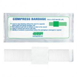 """SAFECROSS FIRST AID 02126, COMPRESS (PRESSURE) - STERILE BANDAGE 6"""" X 4 1/2"""" 02126"""