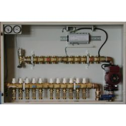 HYDRONIC PANEL SYSTEMS 953, MULTI ZONE MANIFOLD STATION W/ - ACTUATOR & CIRCULATOR - 6LP 953