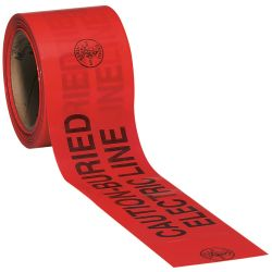 KLEIN TOOLS 58002, WARNING TAPE (BURIED - ELECTRIC), 3' X 200' ROLL - 58002