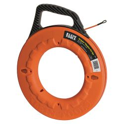"KLEIN TOOLS 56009, NAVIGATOR FIBERGLASS FISH TAPE - 50' X 3/16"" (WITH 7"" 56009"