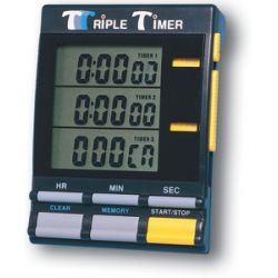 GENERAL TOOLS TI891B, DIGITAL TRIPLE TIMER WITH - CLOCK (BLACK) TI891B