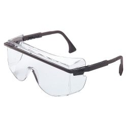 HONEYWELL UVEX S2500C, GLASSES-SAFETY ASTRO OTG 3001 - BLK/CLEAR OVER THE GLASS 4C+ S2500C