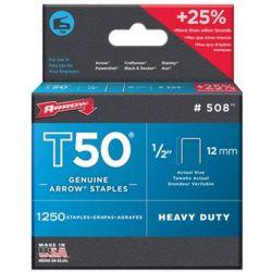 ARROW FASTENER CO, LLC 50824, STAPLES - 1/2 T-50 - *1=1250* SOLD 1250/BOX 50824