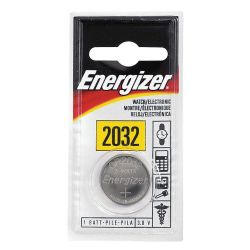 ENERGIZER ECR2032BP, BATTERY-LITHIUM 3 VOLT - #2032- .787 DIA X .126 HIGH ECR2032BP