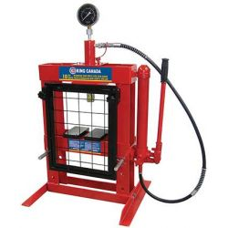 "KING TOOLS KHP-10T-GG, 10 TON HYDRAULIC SHOP PRESS - WITH GRID GUARD 0 - 13-3/8"" - KHP-10T-GG"